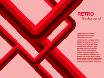 abstract background red retro Στοκ Εικόνα