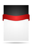 Abstract background with red ribbon Royalty Free Stock Photos