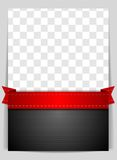Abstract background with red ribbon. Abstract vector background with red ribbon Stock Image