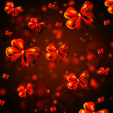 Abstract background with red ribbons Stock Photos