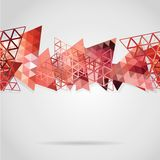 Abstract background with red triangles. Use as backdrop. Place your text on the top Royalty Free Stock Image