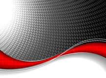 Abstract background with red wave element. Stock Photos