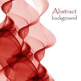 Abstract background of abstract red waves. Abstract background of red waves as a bonfire plume royalty free illustration
