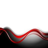 Abstract background with red waves Royalty Free Stock Photo