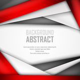 Abstract background of red, white and black. Origami paper. Vector illustration. EPS 10 Stock Image