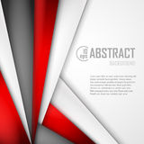 Abstract background of red, white and black. Origami paper. Vector illustration. EPS 10 Royalty Free Stock Image