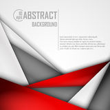 Abstract background of red, white and black. Origami paper. Vector illustration. EPS 10 Royalty Free Stock Photo