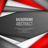 Abstract background of red, white and black. Origami paper. Vector illustration. EPS 10 Stock Photo