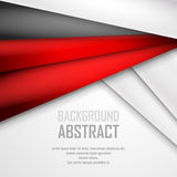 Abstract background of red, white and black. Origami paper. Vector illustration. EPS 10 Royalty Free Stock Photography