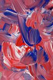 Abstract background in red, white and blue tones of paint. Abstract grunge acrylic paint background abstract in red, white and blue tones royalty free stock images