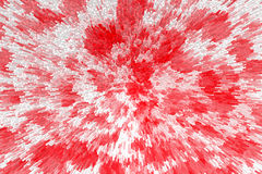 Abstract background of red and white colors simulating explosion of colors. Royalty Free Stock Images