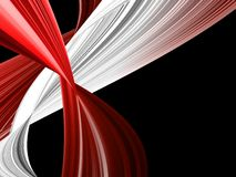 Abstract background. With red and white waves Royalty Free Stock Photography