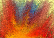 Abstract background in red, yellow and blue tones Stock Images