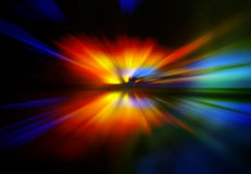 Abstract background in red, yellow, green and blue Stock Photos