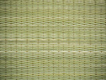 Abstract background of reed mat pattern handicraft Royalty Free Stock Photography