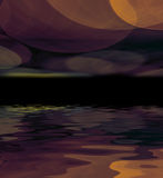 Abstract background reflected in water. Royalty Free Stock Images