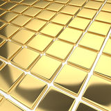 Abstract background with reflecting gold squares Royalty Free Stock Images