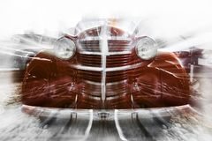 Abstract background in retro car style. stock image