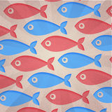 Abstract background. Retro fish Royalty Free Stock Photo