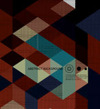 Abstract Background /retro mosaic brochure or banner. Retro mosaic brochure or banner Stock Photography