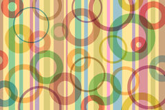 Abstract Background. A Retro Abstract Background with Stripes and Circles Royalty Free Stock Images