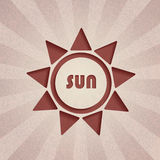 Abstract background. Retro sun. Abstract decorative background. Retro sun vector illustration