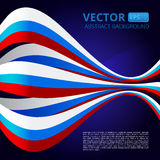 Abstract background with ribbons in blue-red-white colors to the. Use this vector illustration for design your website or publications Vector Illustration