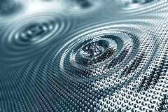Abstract background of ripples in platinum Royalty Free Stock Photography