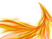 Abstract background with the rising orange flames, abstract orange smoke Royalty Free Stock Photo