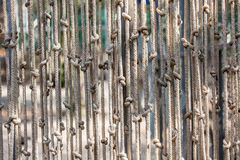 Abstract background of rope with knot multiline hanging. And sun light on rope royalty free stock photo