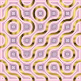 Rose and gold truchet pattern for creative and cheerful designs. Abstract background in rose and gold gradients. creative Truchet tiles with pink and gold Stock Images