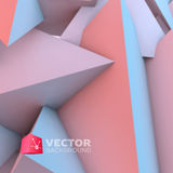 Abstract background with rose quartz and serenity pyramids Royalty Free Stock Photo