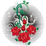 Abstract background with roses. Royalty Free Stock Photo