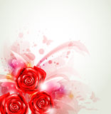 Abstract background with roses Stock Images