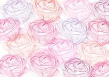 Abstract background with roses. Colorful abstract background with vintage roses royalty free illustration