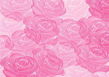 Abstract background with roses. Colorful abstract background with vintage pink roses vector illustration