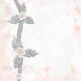Abstract background with roses painted Royalty Free Stock Photos