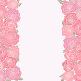 Abstract background with roses Royalty Free Stock Image