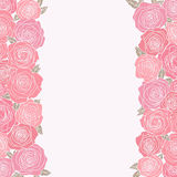 Abstract background with roses Royalty Free Stock Photos