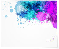 Abstract background with roses Stock Photos