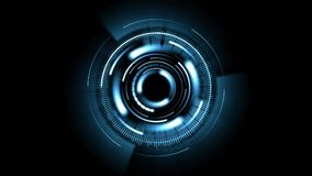 Abstract background with rotating blue lens stock footage