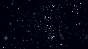 Abstract background with rotating bokeh space on black background. Animation. Space with moving colored shining