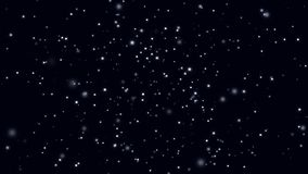 Abstract background with rotating bokeh space on black background. Animation. Space with moving colored shining vector illustration