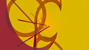 Abstract background with rotating lines and rings. UHD - 4K. 3D-rendering vector illustration