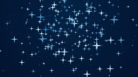 Abstract background with rotating stars stock footage