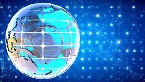Abstract background with the rotation of the glass of the globe. Loopable stock video footage