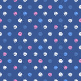 Abstract background with round brush strokes. Vector circles seamless pattern. Retro polka dot Stock Photo