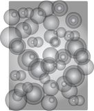 Abstract background with round bubbles Royalty Free Stock Photo