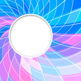 Abstract  background. Round frame. Circle shape. Blue pink color circles.  Stock Photo