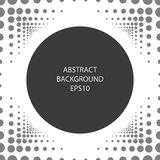 Abstract background with a round frame. Circles and dots. Monochrome image Stock Photo